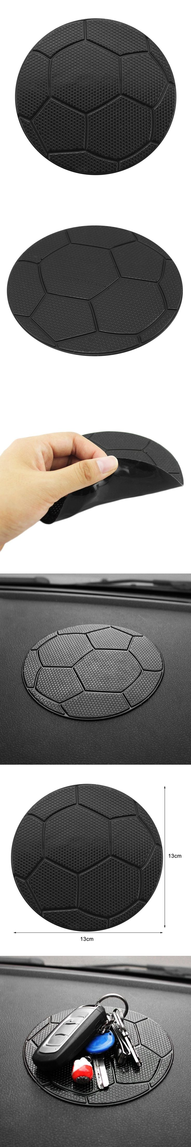 Universal Silicone Football Pattern Car Auto Styling Anti Slip Sticky Pad  Cushion for Cell Phone Coins