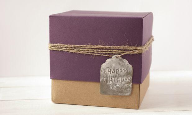 "Etiqueta de zinc ""Happy birthday"""