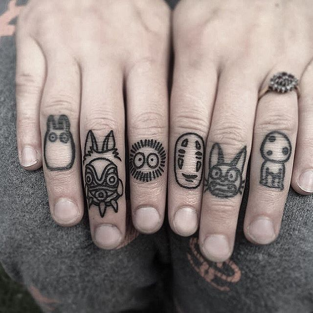 This is so awesome. #Ghibli #knuckletattoos by @winkevans                                                                                                                                                                                 More