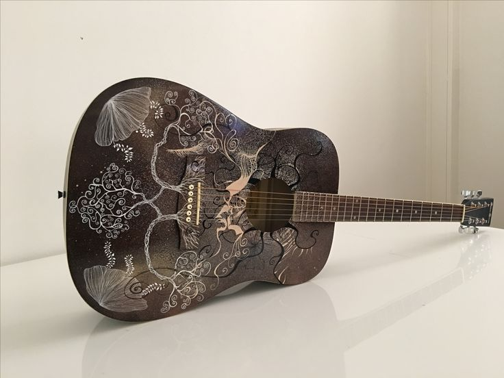The painted acoustic guitar 2016