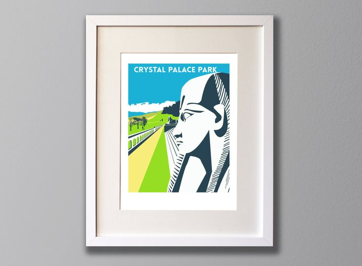 Crystal Palace Park Sphinx, Limited Edition A3 Screen Print, London, South London, UK -  (UN)FRAMED Art by RedFacesPrints on Etsy