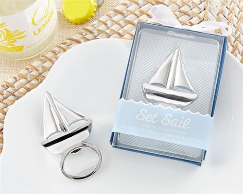 Set Sail Sailboat Bottle Opener - #Nautical theme wedding favors