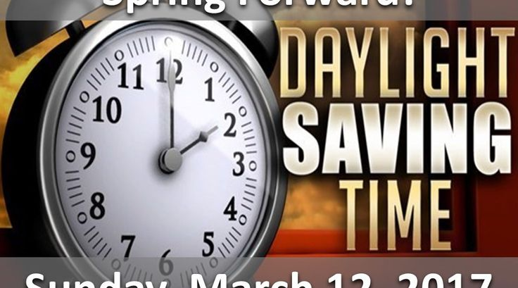 It's Almost That Time of YEAR This term is meant to trigger your memory to set your clocks forward 1 hour in the spring at the start of DST, and 1 hour back in the fall when DST ends. And this year, FORWARD means Sunday March 12, 2017.