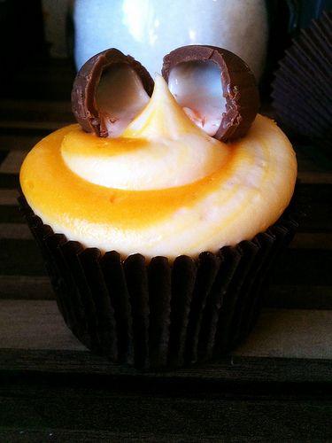 Cadbury Creme Egg Cupcakes...what!!!