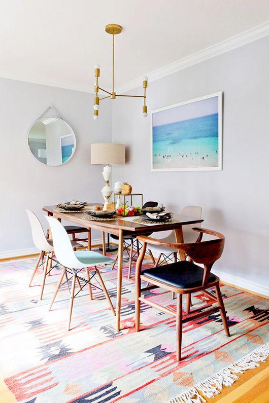 Simple dining room.