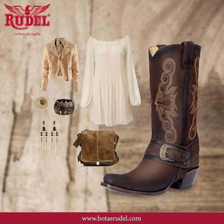 Para este verano, usa tu vestido favorito con el modelo de botas #Maggie. #RudelVaBien.   Dama  Vaquera Fashion  Producto Artesanal Fabricado Por Manos Mexicanas.   #Maggie #boots #Rudel #botas #vaqueras #western #westernstyle #vaquera #fashion #cowgirl #artesanal #botasvaqueras #country #cowgirls #ranchwork #rodeostyle  #moda #rodeofashion #estilo #dama #modamexicana #fashiongirl #photo #guanajuato #wednesday #Rudel #LaBotaDelAguil