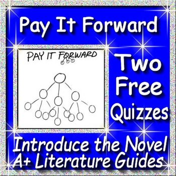 Free Quizzes! Introduce the novel, Pay it Forward by Catherine Ryan Hyde, with these two multiple choice, common-core aligned quizzes.  The first quiz covers the Note About the Young Readers Edition by Catherine Ryan Hyde that is located in the front of the book (14 questions).