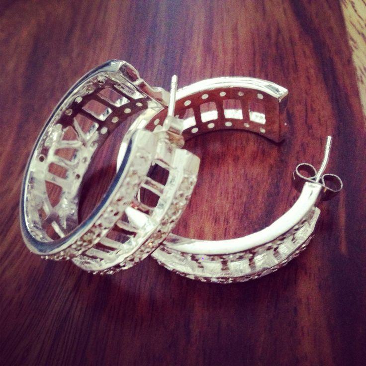 Roman numeral hoops $40