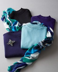 Mock Turtleneck Sweaters #ColdwaterCreek My Favourite Colours