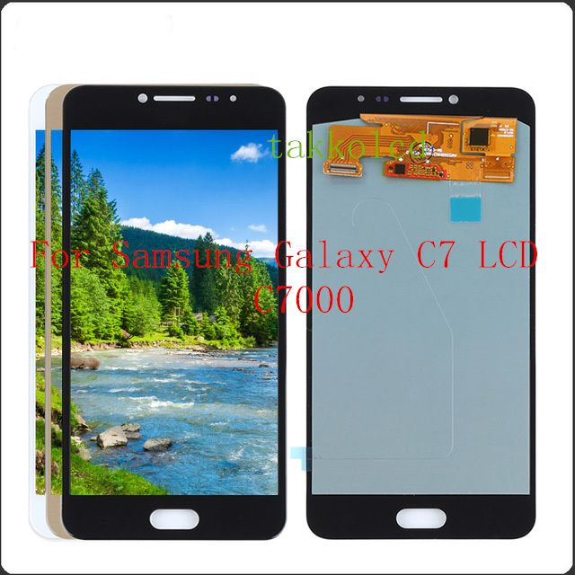 953f8b1f644c8f For Samsung Galaxy C7 LCD C7000 Display Touch Screen with Digitizer  Replacement