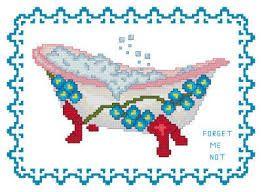 Afbeeldingsresultaat voor bathtub cross stitch patterns
