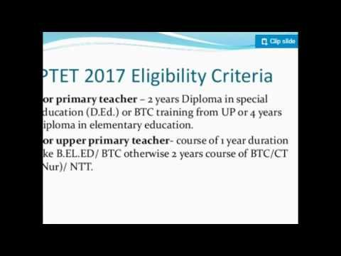 How to fill UPTET 2017 Online Application form Government Job - application form