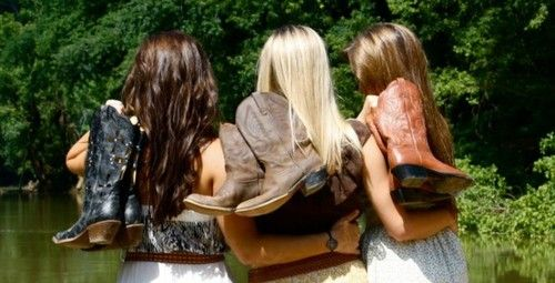 Ari, Heather, and Ellie from the Wanted series. I Love This, Best Friends & Boots, nothing better!