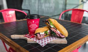 Coffees, Lattes, Frios...Nope thats not all. Try out the delicious menu from tasty baguettes to healthy, filling and nutritious muffins and for some indulgence try the custard croissant mmmmmmmmmmmmm