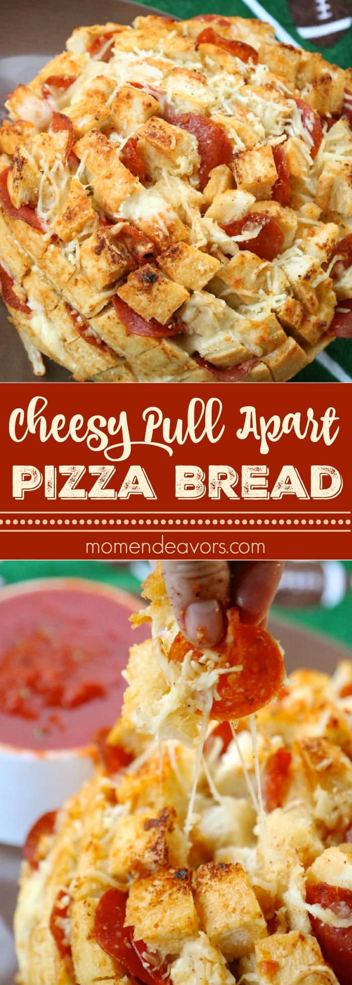 Cheesy Pull Apart Pizza Bread - so easy to make and SO good!