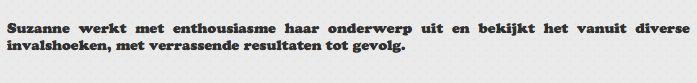 Een referentie van Jet van Swieten, medeblogger over NAH.