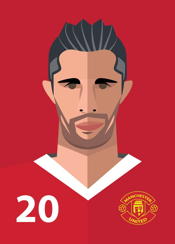 RvP - Manchester United Players by Vlad Kuzmin, via Behance