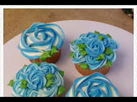 LIKE SHARE SUBSCRIBE Easy Two toned Ombre effect Rosette Cupcakes Items used: Vanilla cupcakes Vanilla buttercream frosting (recipe on my channel) Wilton col...