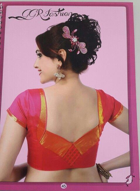 Back design brocade blouse