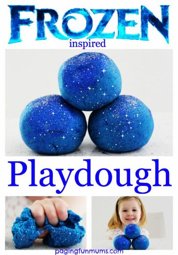 Frozen Playdough & Silly Putty
