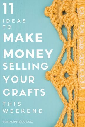 Make money selling your crafts