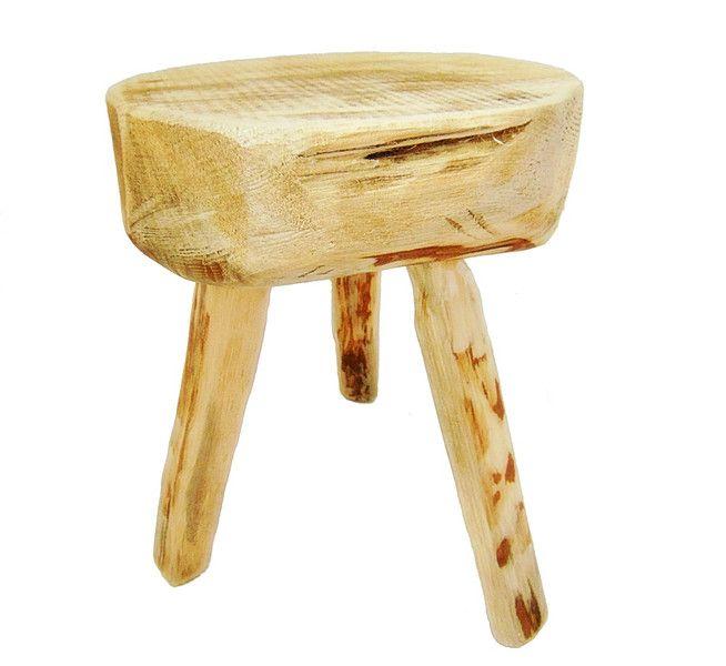 stołek drewniany - SkandiDekor - Krzesła, wooden stool, tree stump