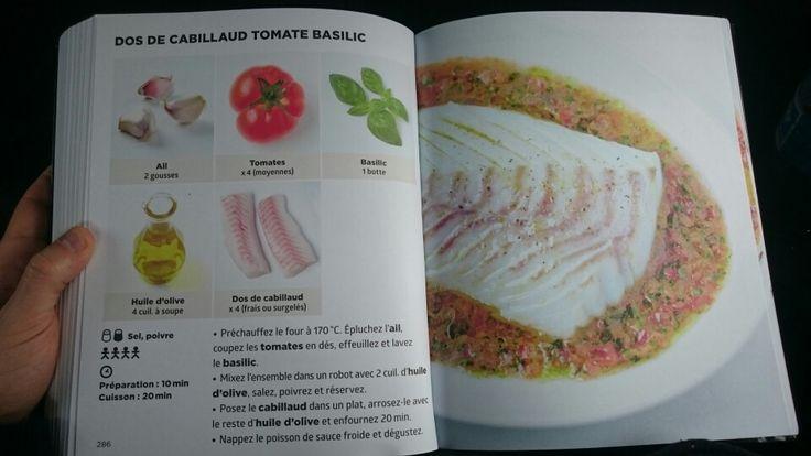 Dos de cabillaud tomate basilic