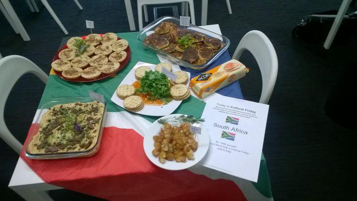 #CulturalFriday at blur - we have introduced some South African treats... Melktert, Peppermint Crisp Tart, Koeksisters and pampoenkoekies!