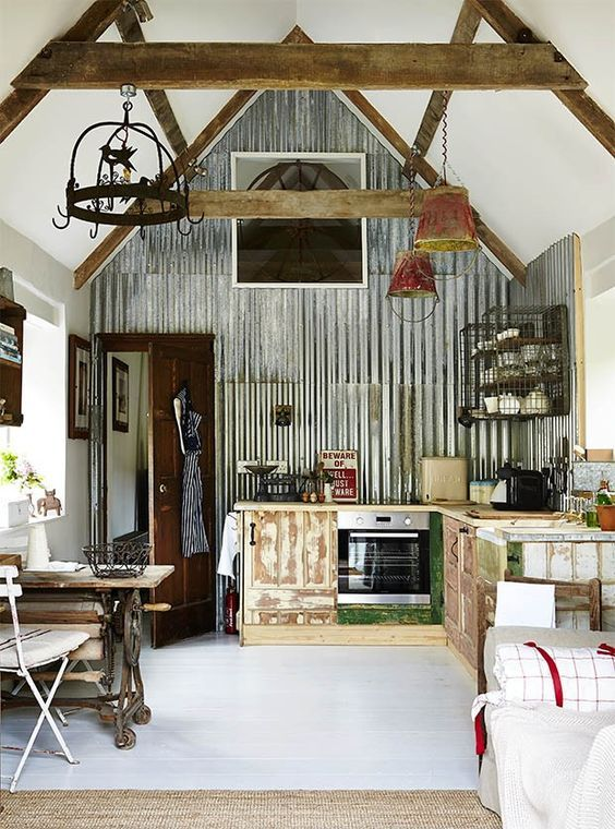 The 25 Best Tin Walls Ideas On Pinterest Barn Bathroom