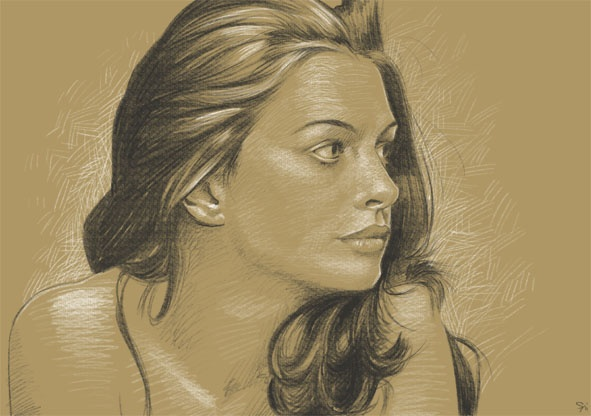 Anne hathaway · pencil sketchinganne