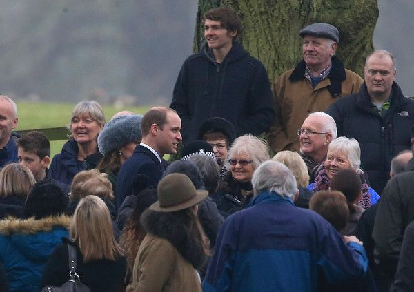 Prince William Photos Photos - Prince William, Duke of Cambridge and Catherine, Duchess of Cambridge attend St Mary Magdalene Church at Sandringham on January 8, 2017 in King's Lynn, England. - Members Of The Royal Family Attend St Mary Magdalene Church In Sandringham
