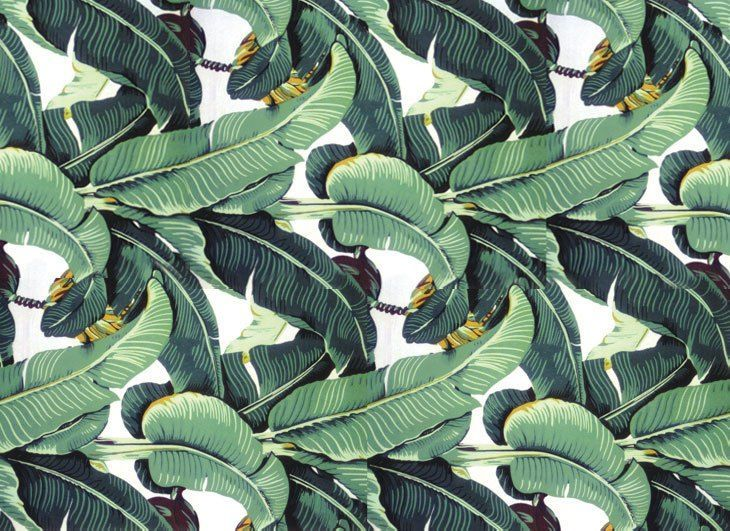 Martinique Banana Leaf Wallpaper Was Designed By Don Loper In 1942 For Use The Beverly Hills Hotel