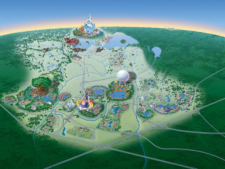 Walt Disney World -- Other Whopping Big Map of Walt Disney World Resort (non-annotated)