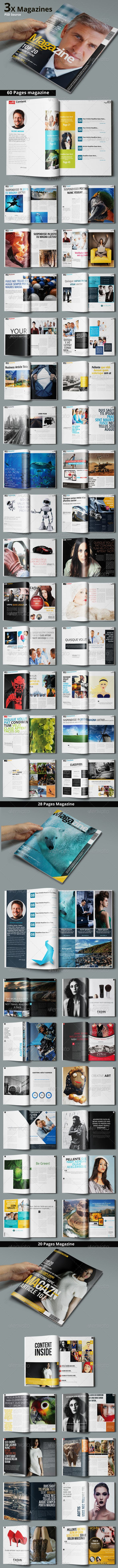 Multipurpose Magazine Bundle - Photoshop PSD — Photoshop PSD #print #design • Available here → https://graphicriver.net/item/multipurpose-magazine-bundle-photoshop-psd/7466589?ref=pxcr