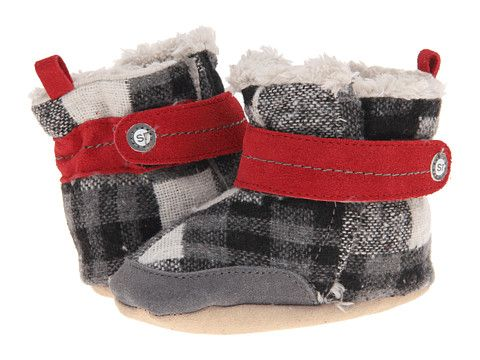Stride Rite Crib Sweetie Snuggle Plaid Bootie (Infant)