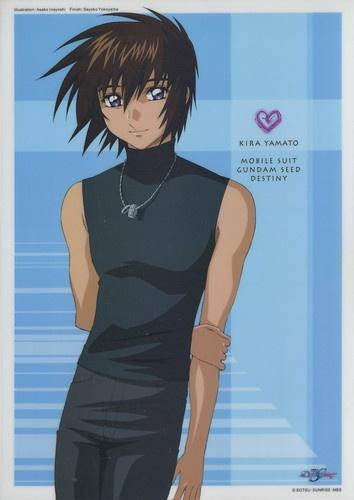 Gundam Seed Destiny plastic poster official Japan Kira Yamato