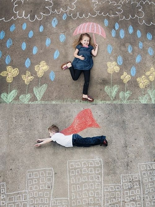 sidewalk-chalk-super-rain                 We've got the chalk, have you got the imagination? http://www.gentlyelephant.co.uk/rex-giant-playground-chalk.html #play #imagination #adorable #kidsatplay