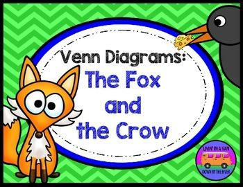 Use these differentiated Venn Diagrams after reading The Fox and the Crow. Students may generate written responses or cut and paste the included pictures (two sets per page).