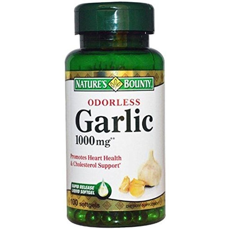 Nature's Bounty Odorless Garlic 1000mg, Herbal Health Supplement 100 Softgels  #NaturesBounty