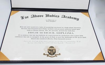 I loved being able to personalize this diploma with my daughter's name, our homeschool name and of course my husband and I had spaces to sign it before awarding it to her.  Having the option of choosing to add the Bible verse and Bible wording made it the perfect choice for our family.  There are so many other options to choose from.   #homeschool #hsdiploma #diploma  #personalize #highschoolgraduation #homeschooldiploma #certificate