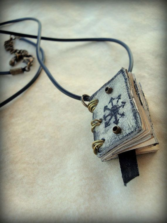 Chaos Magic Spell Book Necklace  by Dryw on Etsy
