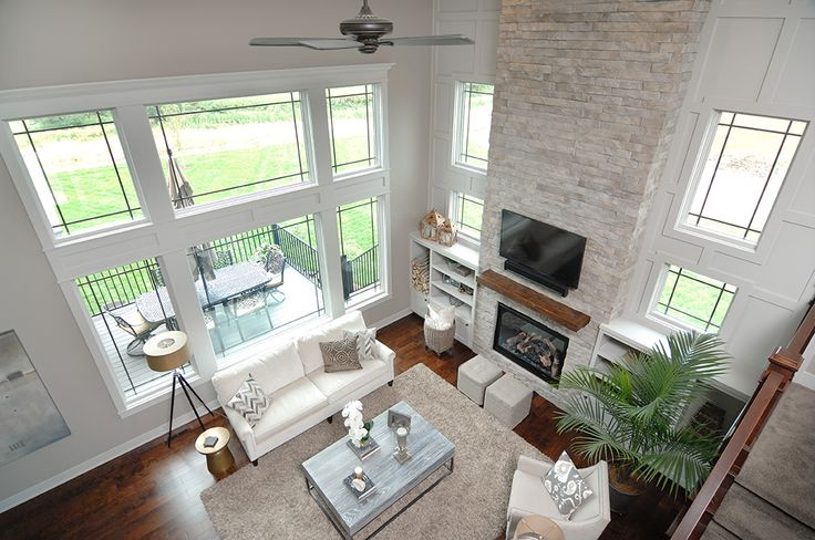 What a view from the second floor! Pinnacle windows by Windsor Windows and Doors.
