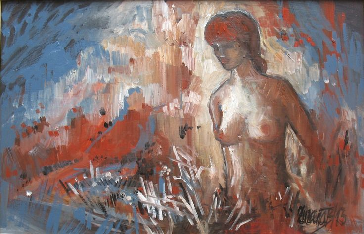 Zuzana Bobovská-Bošková - Pohoriami z popola, akryl, olej, 2009, 20x30 cm, 150€