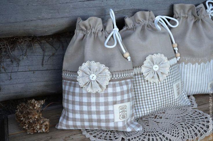 Купить Льняные мешочки для грибов, лука, чеснока (100 % лен) - мешочек для…