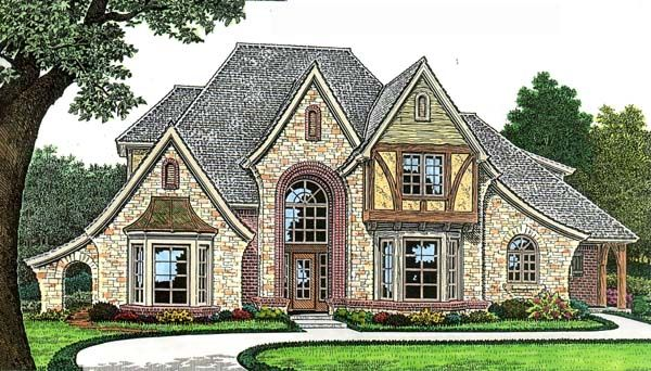 French Country Style House Plan 66271 With 4 Bed , 5 Bath