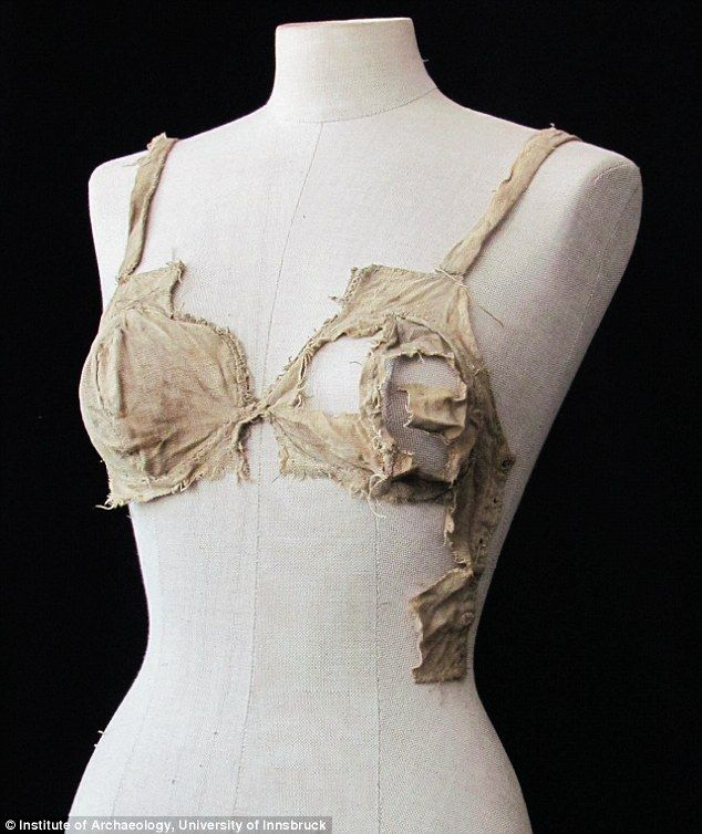 Foundations of history: This bra was discovered hidden in a vault at Lengberg Castle in East Tyrol and is thought to date back to the 15th century