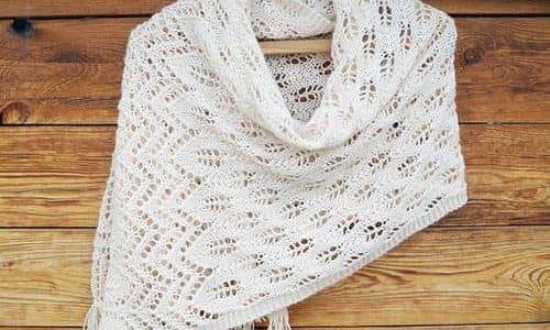 Простой узор вязания шали спицами