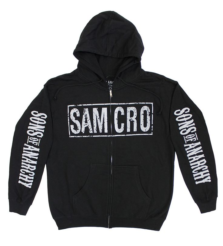 BikerOrNot Store - Sons of Anarchy - 4-Print SAMCRO Zip Hoodie (Black), $49.97 (http://store.bikerornot.com/copy-of-sons-of-anarchy-samcro-zip-hoodie-black/)