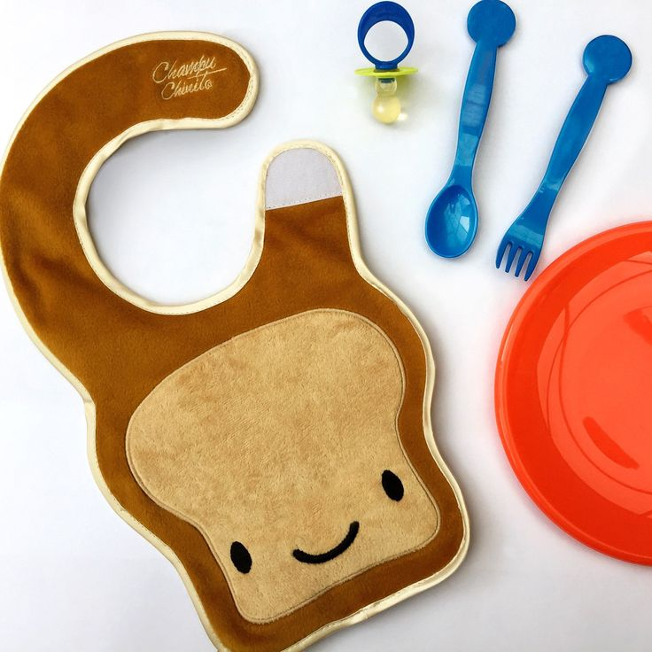 Check out our new baby bib!  Super cute baby toast bib for your baby! NOW AVAILABLE!