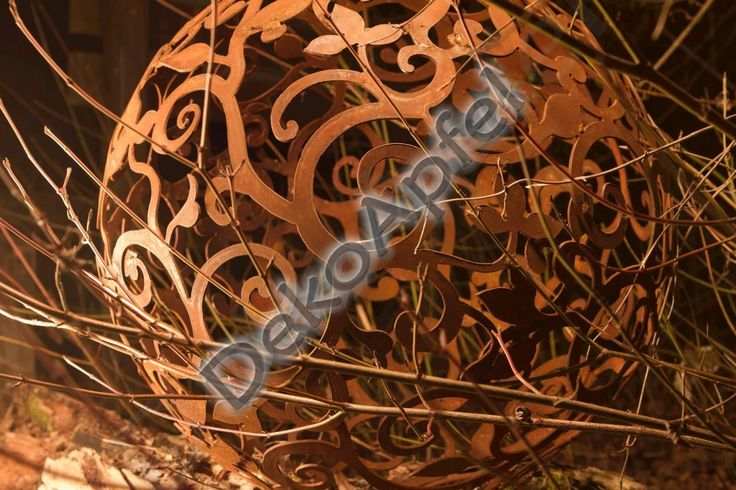 Barock Garten Kugel aus Edelrost 50 cm